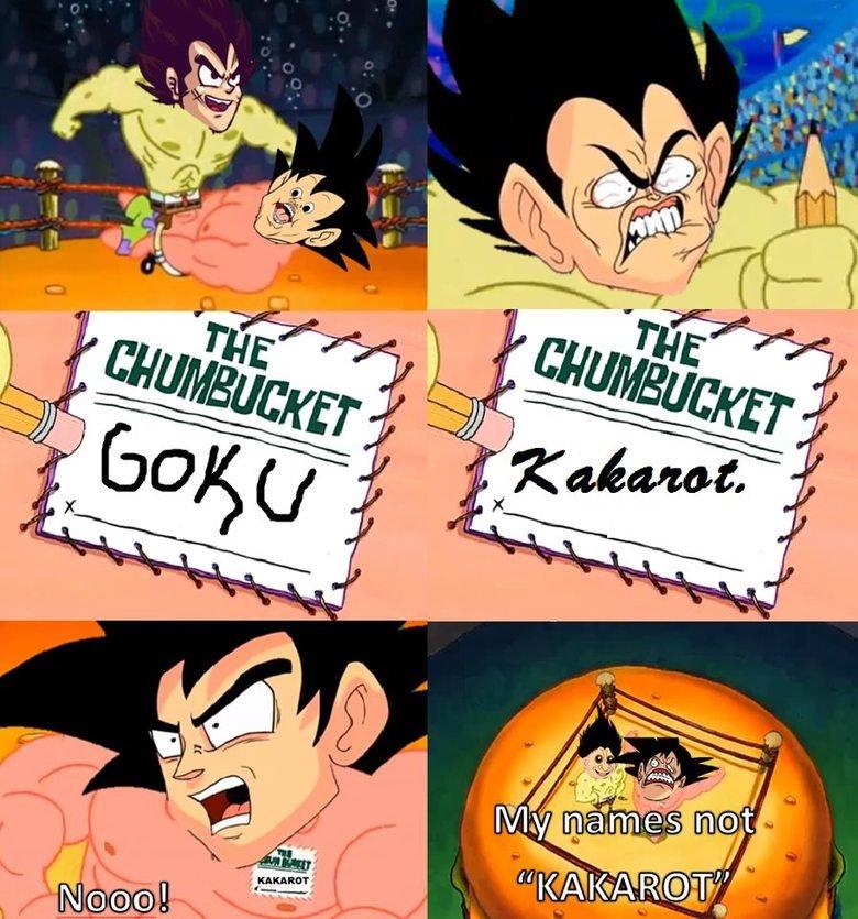 Goku's Name. .. Ka-Ka Karrot Kake