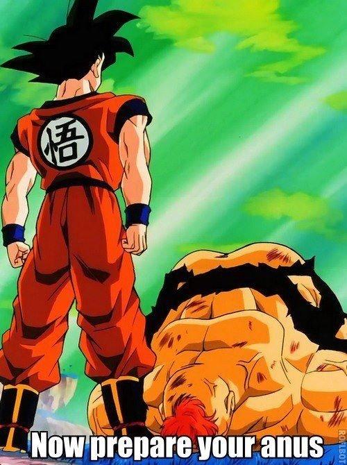 Goku's rough!. .. Brokeback BallZ