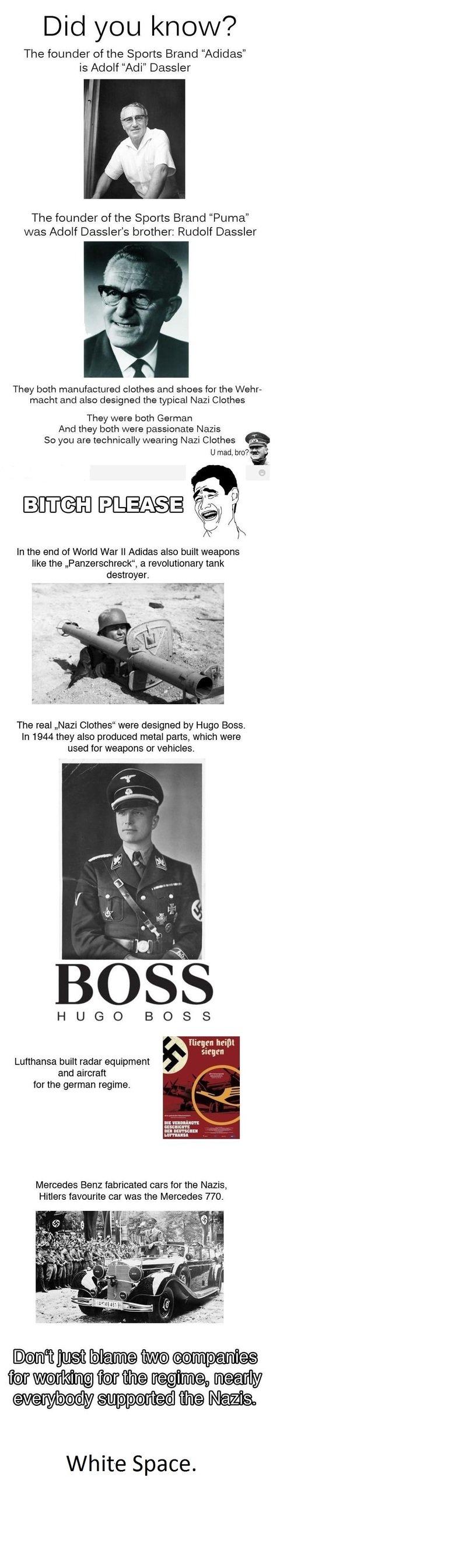 Good ol' sibling rivalry. Like a Boss! Deal with it... Panzerschreck = tank destroyer panzer - tank schreck - destroyer SCHRECK