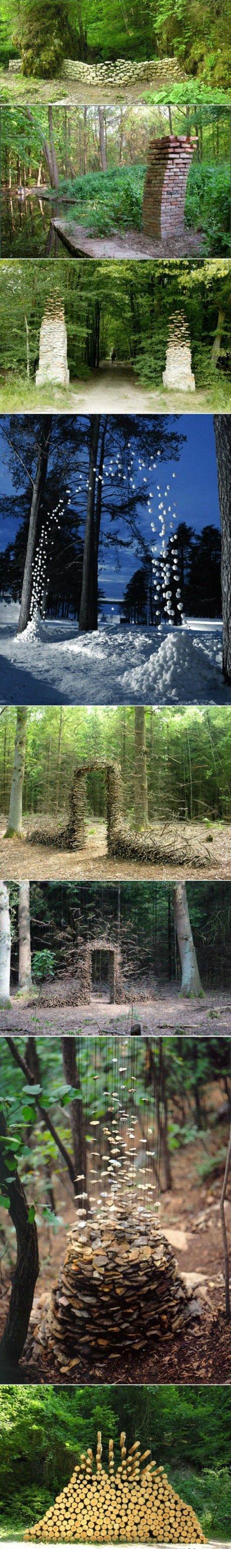 Gravity-Defying Sculptures. .. seems legit