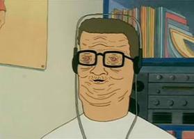 Hank High as FOCK!. Hank Hill smoked too much trippin.