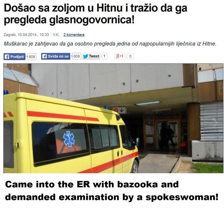 Healthcare in Serbia. Source: . Dogan volcom u Hitsu i traini Zagreb, 10. 04. ., 10: 33 Ilk. 2 komentare ototso jedna Mine. grrl f) Ill MN - Came into the ER wi