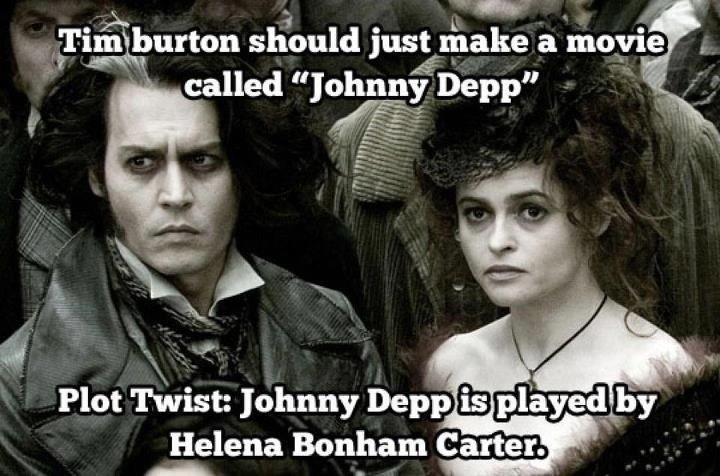 Here's Johnny. . Plot Twist: Johnny Deni» . . Helena Batman Carter.. I really need to do my homework
