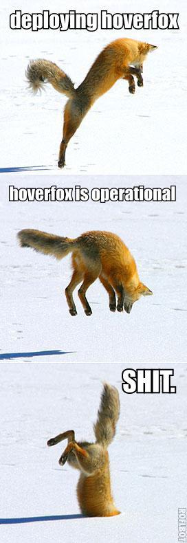 Hoverfox. OC.. Firefox has crashed.