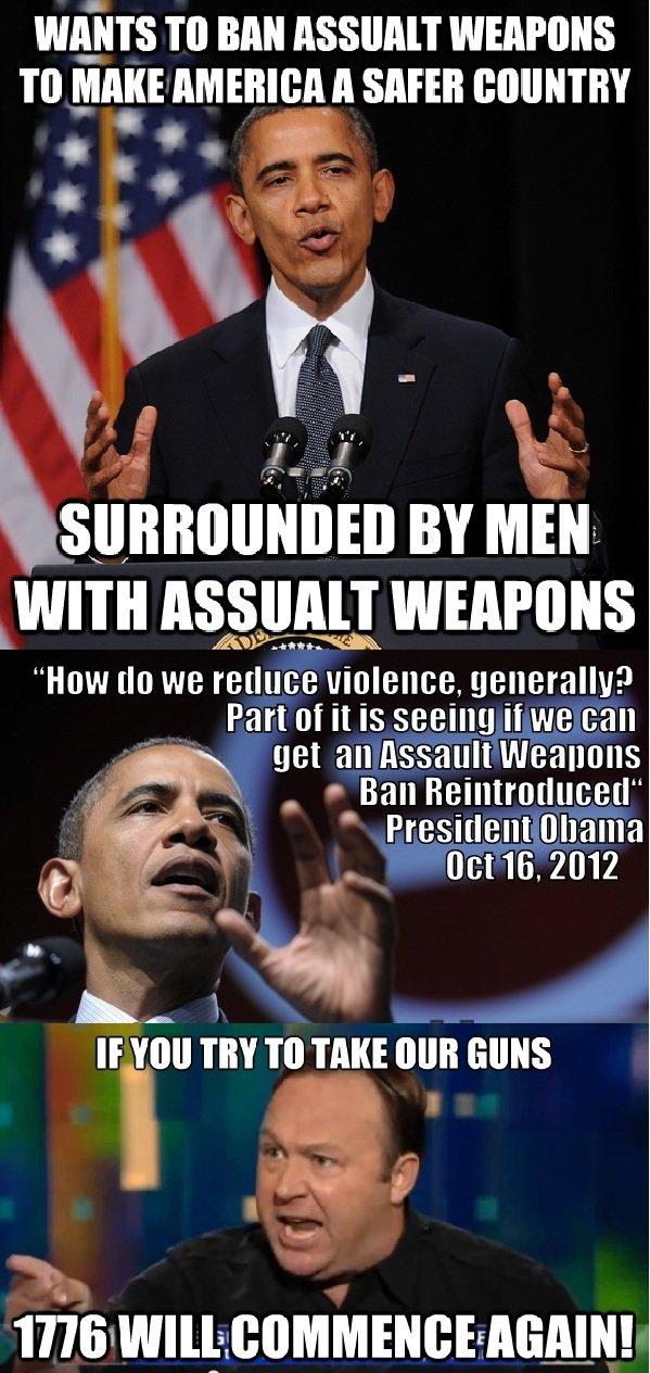 How I feel on gun control. .. bad logic. try again.