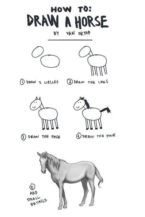 "How ""Learn To Draw"" Books Work. . HOW Tatt DRAW A HORSE ici: irr) OWN 2 . Ci) tmrw we kiitti(' iii) iii"""