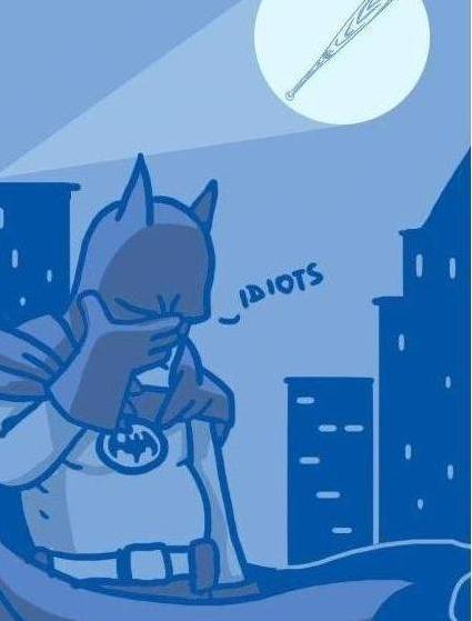 I am Bat Man. Call of the man who holds bat..