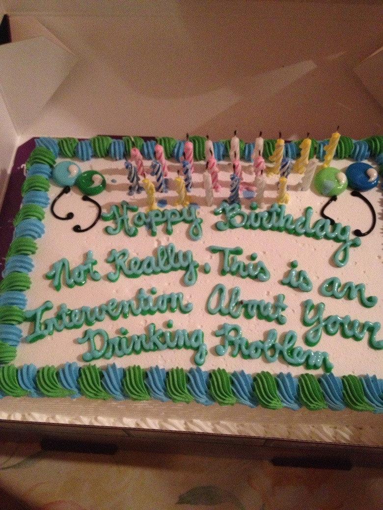 I got a cake for my birthday. .. Cake maker's FW saying happy birthday