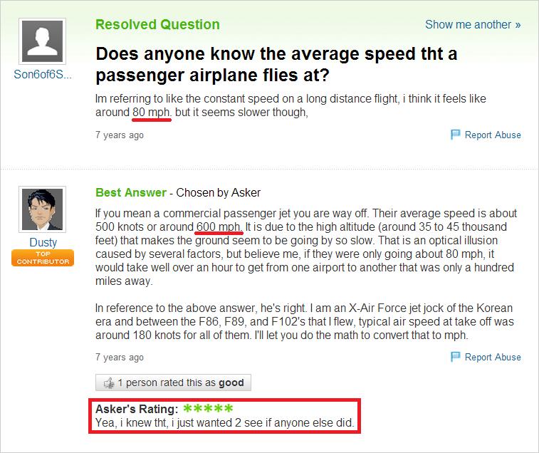 I love Yahoo Answers. Jesus..