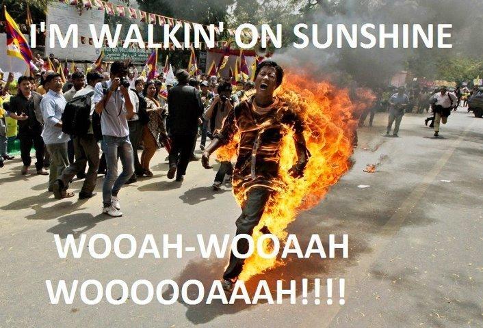 I'm walkin' on sunshine. Yeah!.. Also