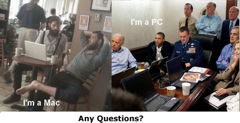 I'm a Mac. I'm a PC. Any Questions?. YOUR SUCH A QUEER MACS SUCK DICK AND SO DO U
