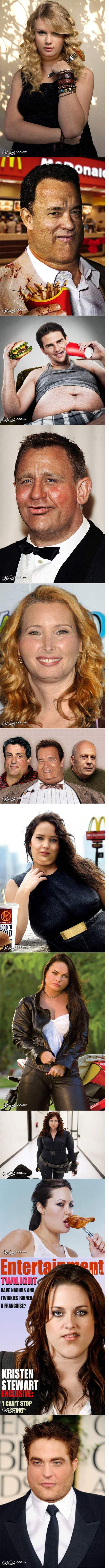 If celebrities were fat. .. Robert Fattison.