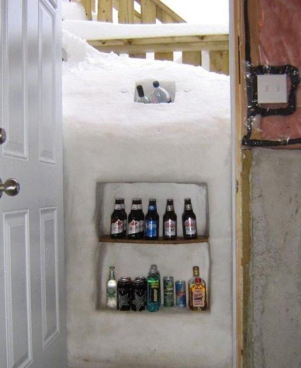 in alaska. .. who needs a fridge
