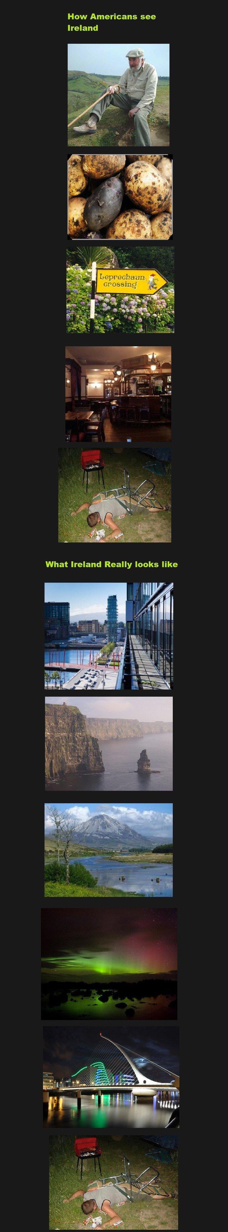 ireland. . How Americans see Ireland. How the English see Ireland.