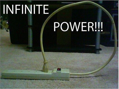 IT'S INFINITE. . INFINITE POWER!!!. Is this like dividing by zero?