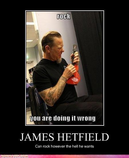 """James Hetfield. METALLICA<3!!! Omg front paaaaaaaageeeee yeaaaaa Top 5... I am going to cry. will are lining """" JAMES HETFIELD Can reek: however the hell he w"""
