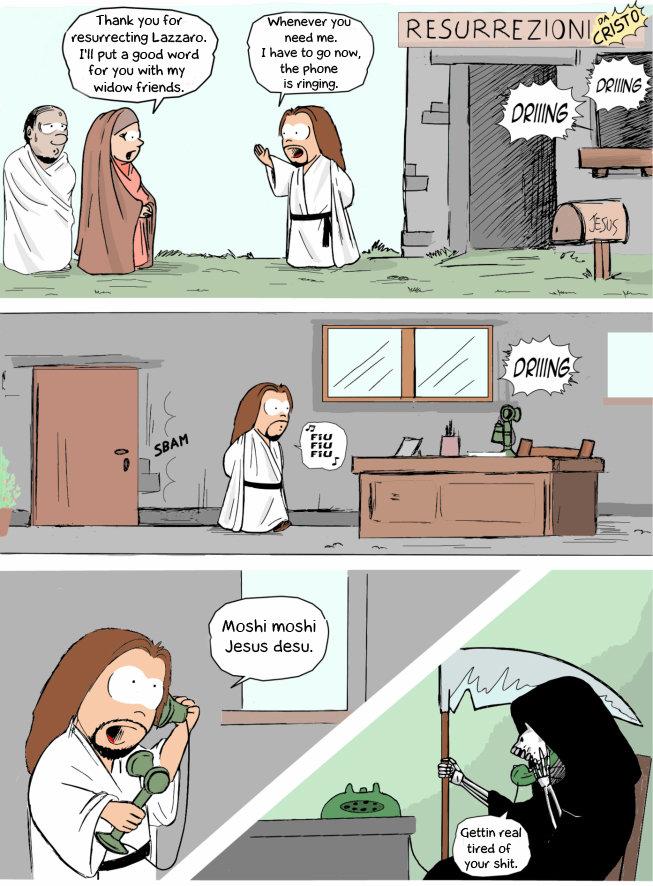 "Jesus Resurrections.. source www.jenusdinazareth.com/ the original is in italian tho.. lilli. fti' i I' ll put a Quad ward I have tn an rean "" - Jesus dean. This shall be my finest moment."