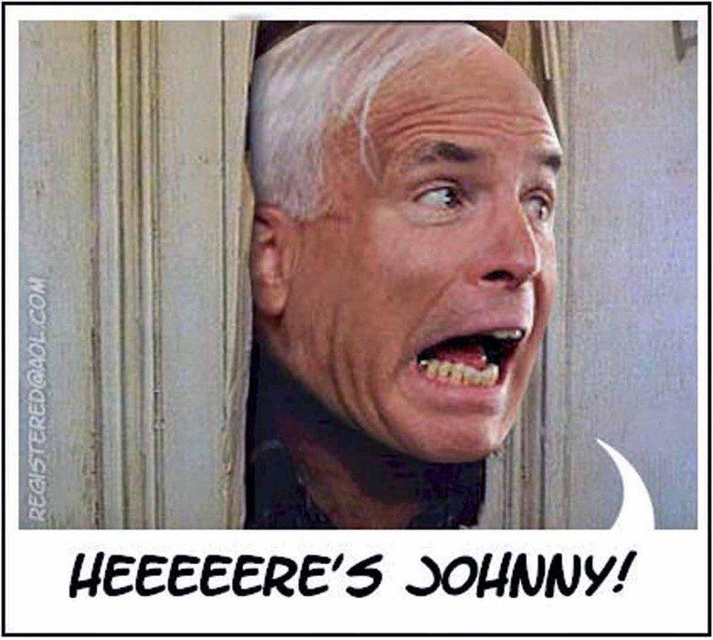 Johnny!. McCain in the shining.