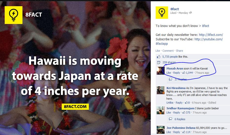 "Just wat did he do to get so many likes. . meet gill? FA CT ' ' mlm Nil Subscribe be n: nur ""r' n: nugu be: hep Hawaii Mil moving Amen seen it MII be Hawaii Mei"