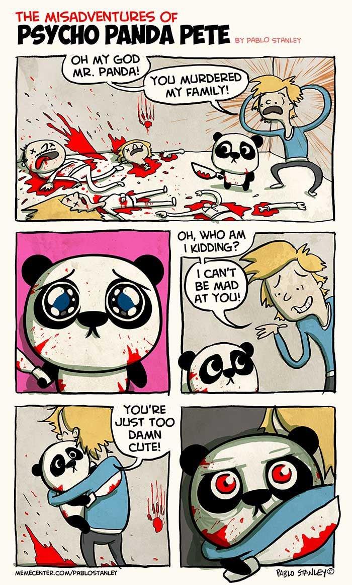 kill. title is kill. THE Op lla PANDA PETE BY k An