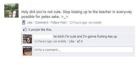 Kissing Up. .