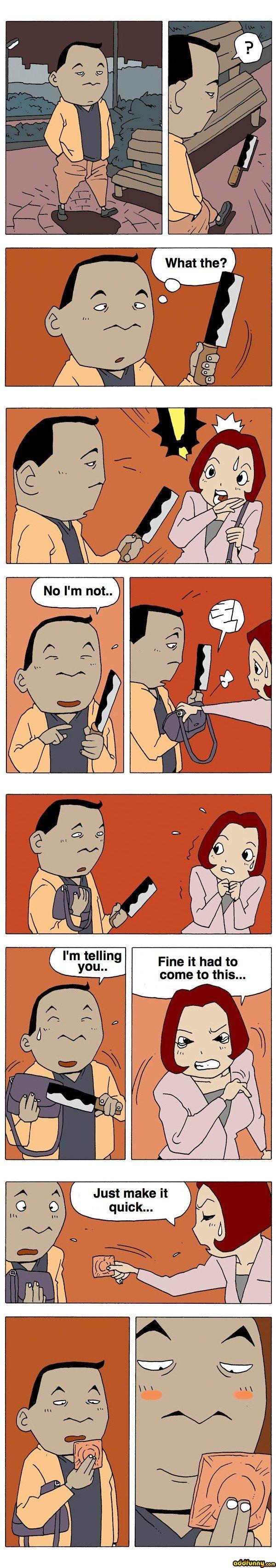 Korean Comic. Not mine, but funny.