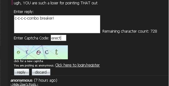 lol erect!. lol.. C-C-Combo Breakers: Gives Captcha a boner