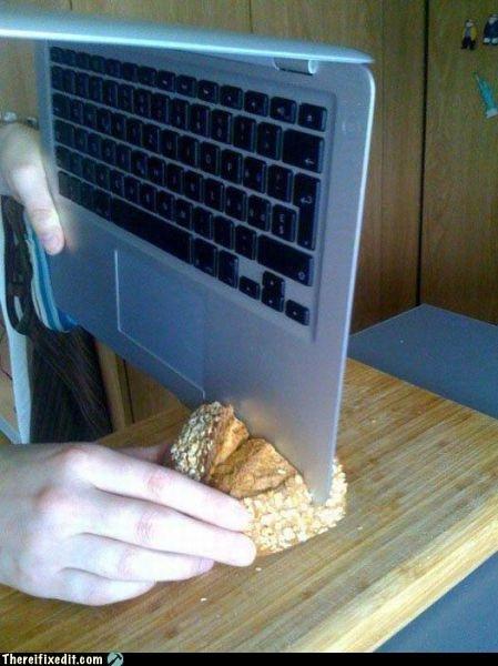 mac doing something useful. .. Looks like we've found... Mac the Knife.