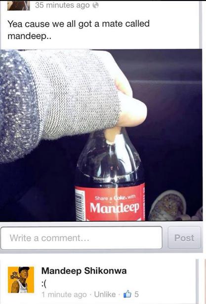 Mandeep. Mandeep!. Yea cause we all got a mate called mahr. iwep.. Post Uni . in