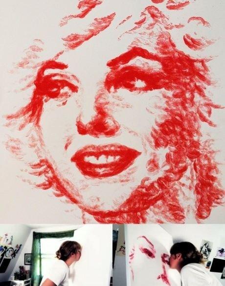 Marilyn Monroe Painting by Lips. .