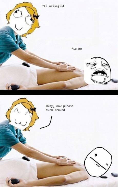 Massage Creep. . Le bassagent Nay, new please turn around