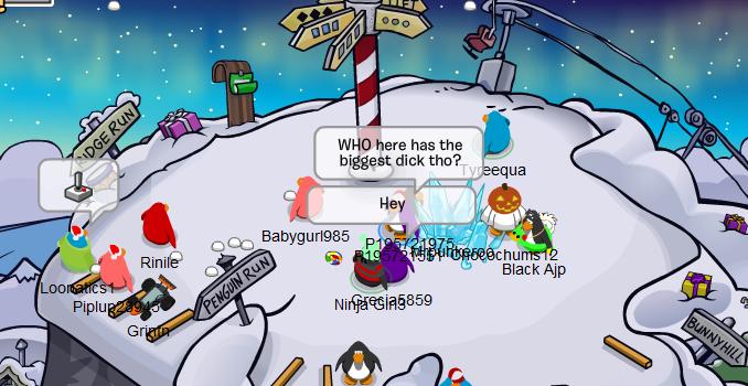 Meanwhile on Club Penguin.... I bet it's the black penguin.. WHO here hat) the DEG Jai T Blackina
