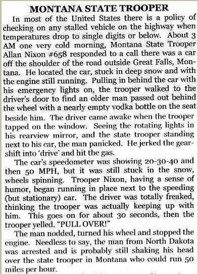 montana state trooper. .. I lol'd
