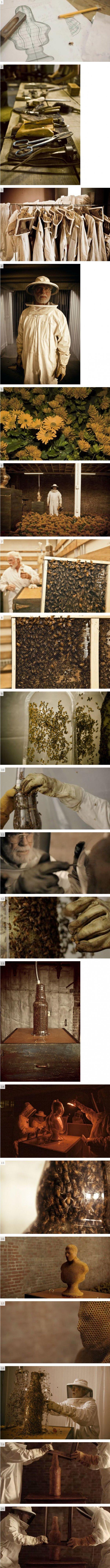 natural 3D -Printer. .. Bees are still pretty stupid...