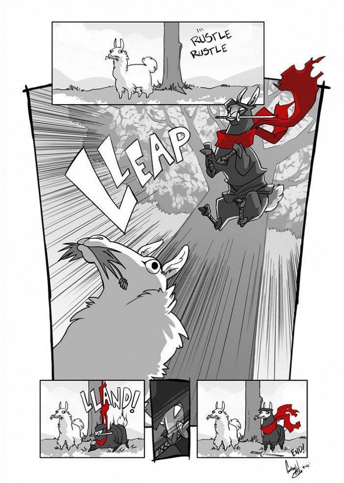 ninja Llama. link: artige.no/bilde/3090.. LLAMAS!