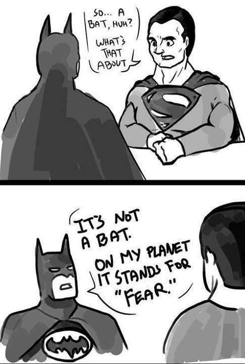 Nolan's Batman meets Snyder's Superman. Source: Imgur.. Fearman and Hopeman: The Movie.