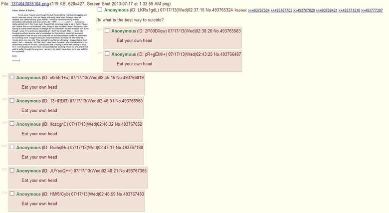 "Oh 4chan, you so silly. Took a screenshot off of 4chan a few days ago. OC, 100%.. File: KB. 628x427. Screen Shot at . 59 ) Airgun PHI]! riht_ "" 8' Flinn besoms"