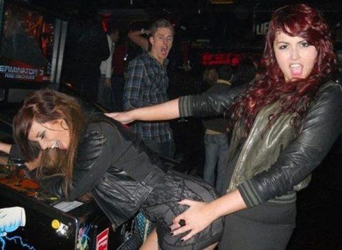 oh god!!. .. I bet those chics complain that men don't respect them.
