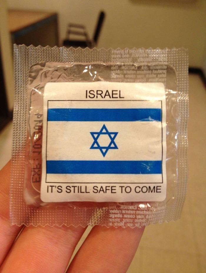 Oh, Israel. Insert witty joke here.. It's not just safe Israeli safe.