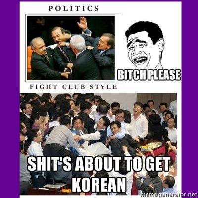 Oh, Korea. milk man. POLITICS