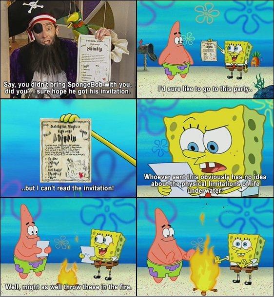 "Oh Spongebob. . Say, yms (' t.. tr, iit bring Spi: -""Huge uh with you, Elita"""