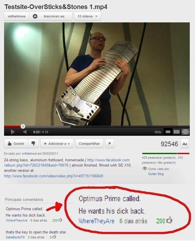 optimus wants his dick back.... . 1. mpa wilhelmjh / ideos 1' a Gister H + Aficionado _ , 92546 Mi bass. aluminium fretboard.. homemade) https.// wwy. facebook