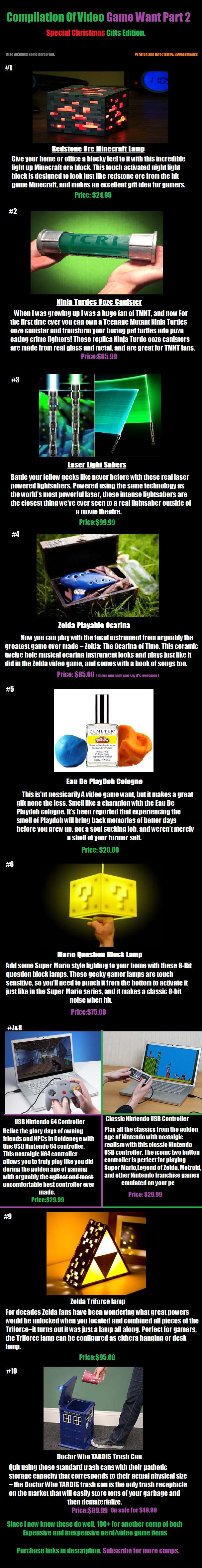 Part 2 Video game want comp. Ore Block www.thinkgeek.com/product/eea7/?cpg=cj&ref=&CJURL=&CJID=3363563 Ooze Canister www.etsy.com/listing/108649032/tmnt-replica