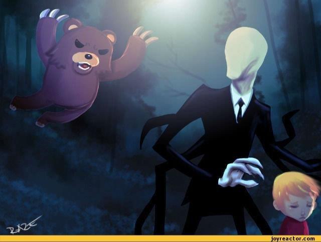 Pedobear vs Slenderman!. Pedobear vs Slenderman!.