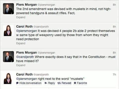 """Piers """"Aloe"""" Morgan. . E Pier: Marga Li' Eh I The End amendment 'Nae devised with in mind. not high- powered handguns at raryti. Fact. Expanse dumt Hath air. Bi"""