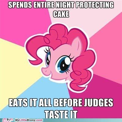Pinkie Logic.......-sighs-. .. it already won so id did not matter