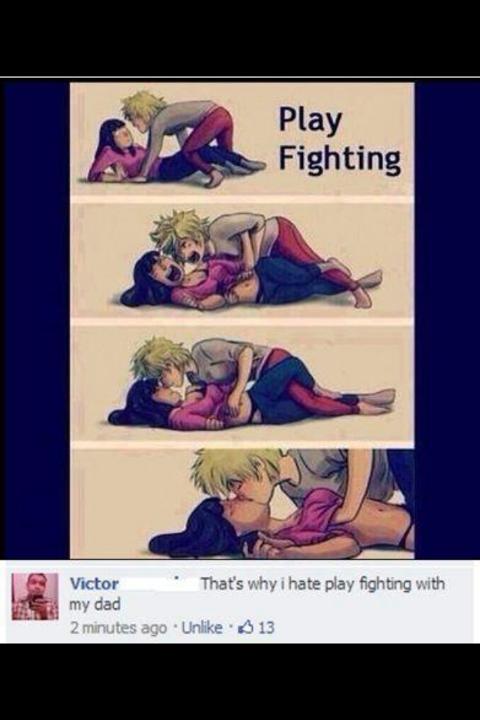 "Play fighting. Oh my.. may Fighting. ""play fighting"""