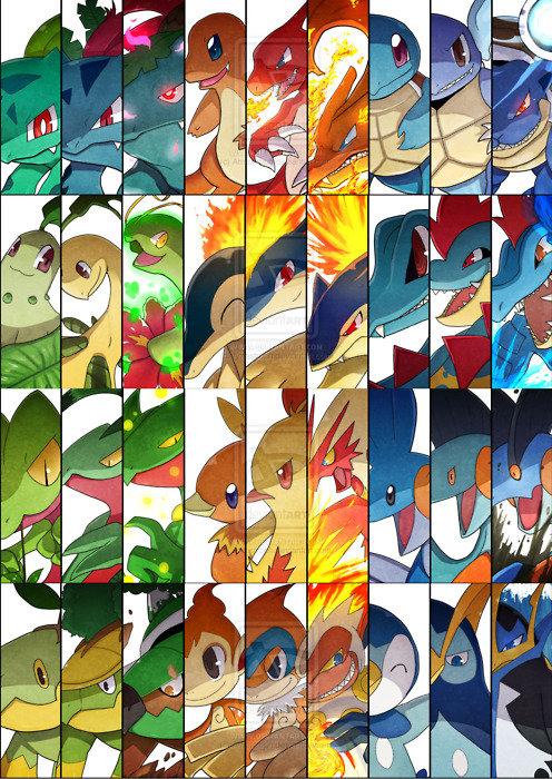 pokemon starters. .. always forgotten..