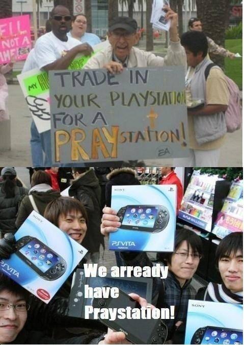 Praystation. Asians... everytime..... repost