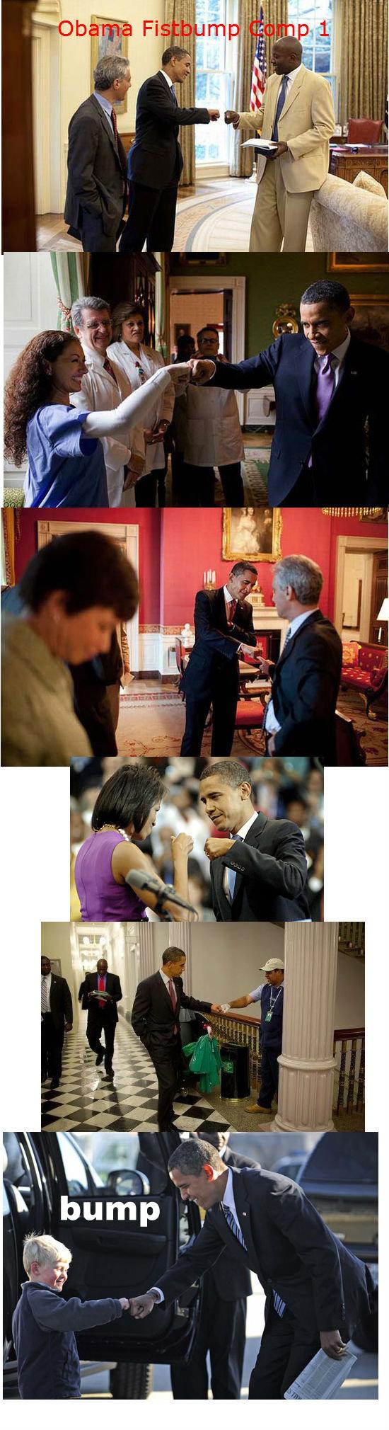 President Obama Fistbump Compilation 1. Like for Obama Fistbump Compilation 2!!.
